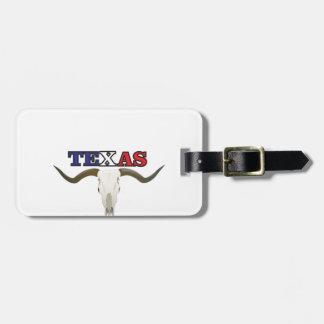 Étiquette À Bagage longhorn mort du Texas