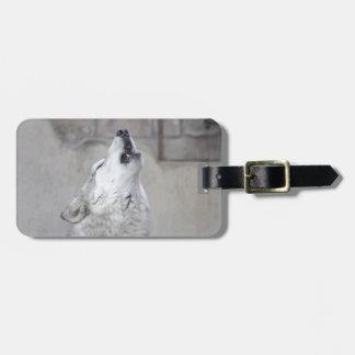 Étiquette À Bagage Loup gris d'hurlement