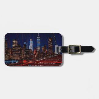 Étiquette À Bagage Lumières de nuit de New York City de pont de