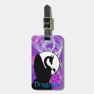 Étiquette À Bagage Lune I (pourpre de dragon fleuri)