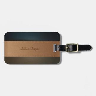 Étiquette À Bagage Luxe élégant, rétro, rayé