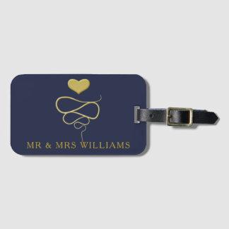 Étiquette À Bagage M. et Mme marine personnalisée par   d'ornement de