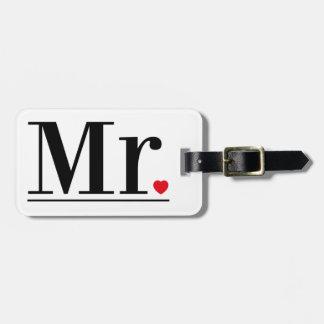 Étiquette À Bagage M. Luggage Tag