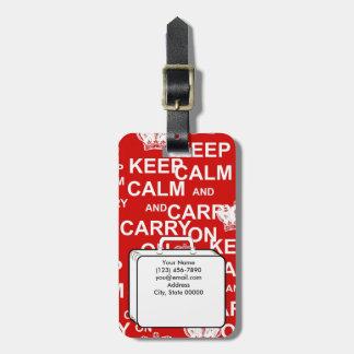 Étiquette À Bagage Maintenez calme et continuez l'étiquette faite sur
