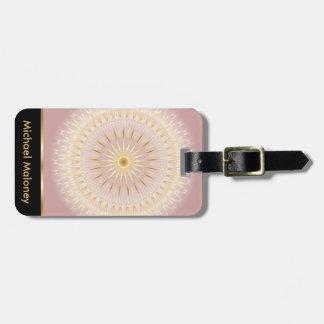 Étiquette À Bagage Mandala rose d'or