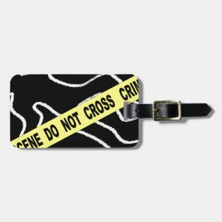 Étiquette À Bagage Marque de craie de scène du crime