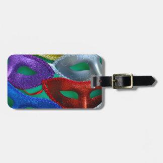 Étiquette À Bagage Masques colorés de parties scintillantes