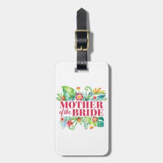 Étiquette À Bagage Mère du mariage tropical de destination de jeune