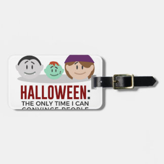 Étiquette À Bagage Mes enfants sont conception de Halloween de