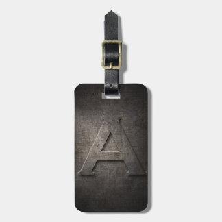 Étiquette À Bagage Métal noir en bronze une étiquette de bagage de