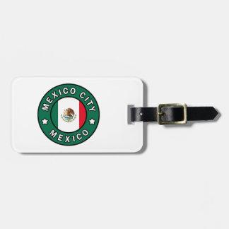 Étiquette À Bagage Mexico Mexique