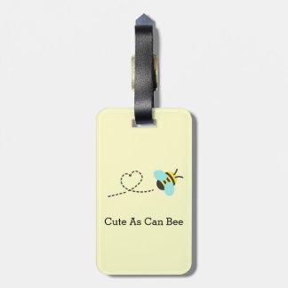 Étiquette À Bagage Mignon de même que peut abeille, bourdonnant
