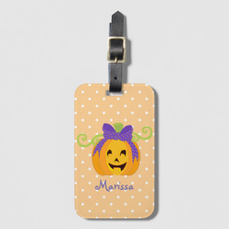Étiquette À Bagage Mignon personnalisez le citrouille de Halloween