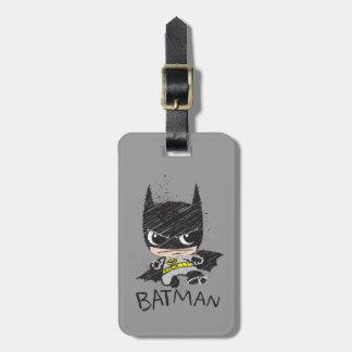Étiquette À Bagage Mini croquis classique de Batman
