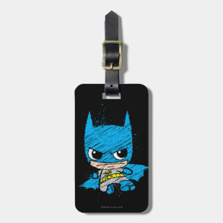 Étiquette À Bagage Mini croquis de Batman
