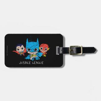 Étiquette À Bagage Mini croquis de ligue de justice