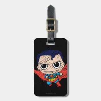 Étiquette À Bagage Mini croquis de Superman