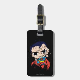 Étiquette À Bagage Mini croquis de Superman - vol