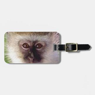 Étiquette À Bagage mini tête de singe