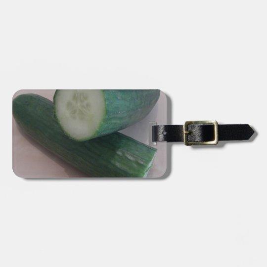 Étiquette À Bagage Miscellaneous - Cucumber Halves Pattern