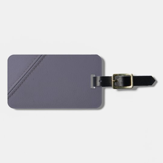 Étiquette À Bagage Miscellaneous - Minimalist Violet/Grey Leather