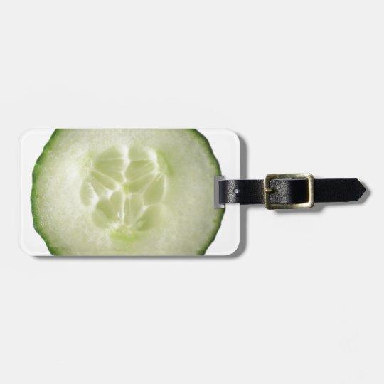 Étiquette À Bagage Miscellaneous - White Cucumber Pattern