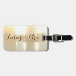 Étiquette À Bagage Mme élégante et future élégante, course de brosse