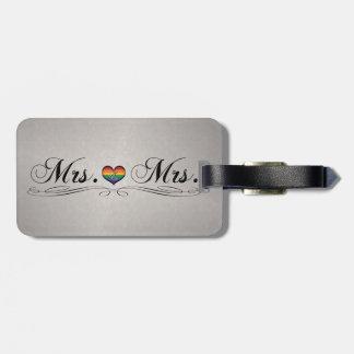 Étiquette À Bagage Mme et Mme Lesbian Design