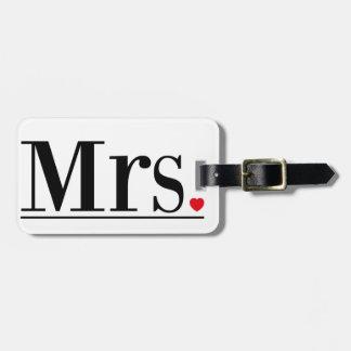 Étiquette À Bagage Mme Luggage Tag
