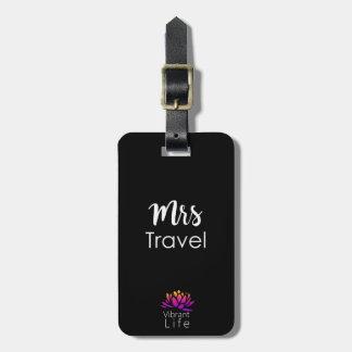 Étiquette À Bagage Mme vibrante Travel - noir/blanc d'étiquette de