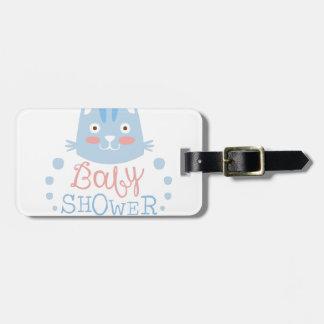 Étiquette À Bagage Modèle de conception d'invitation de baby shower
