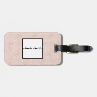 Étiquette À Bagage Modèle rose d'or