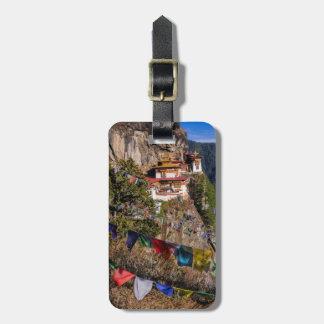 Étiquette À Bagage Monastère du nid du tigre, Bhutan