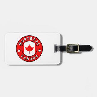 Étiquette À Bagage Montréal Canada
