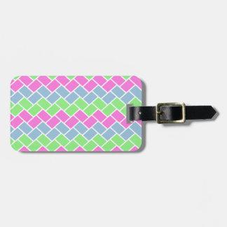 Étiquette À Bagage Motif à la mode girly mignon de rectangles de zigz
