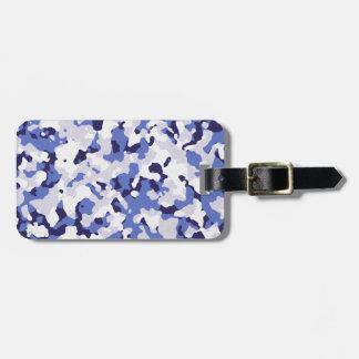 Étiquette À Bagage Motif bleu de camouflage