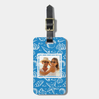 Étiquette À Bagage Motif bleu de plage