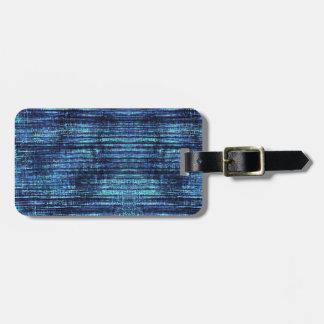 Étiquette À Bagage Motif bleu-foncé de denim