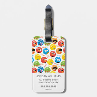 Étiquette À Bagage Motif de caractère de cercle de Sesame Street
