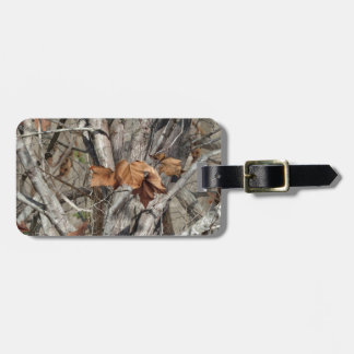 Étiquette À Bagage Motif de feuille et de branches de camouflage de