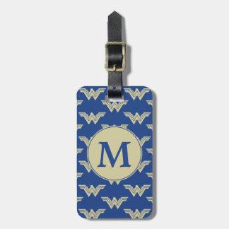 Étiquette À Bagage Motif de logo de femme de merveille de monogramme