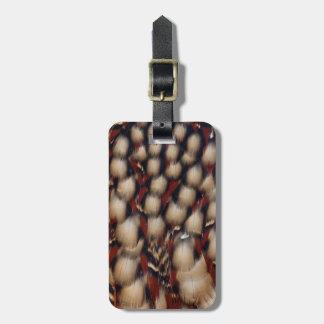 Étiquette À Bagage Motif de plume de Tragopan de Cabot