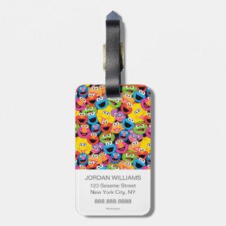 Étiquette À Bagage Motif de visages de caractère de Sesame Street
