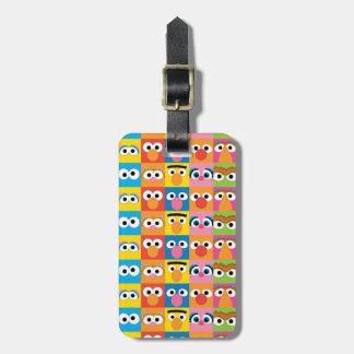 Étiquette À Bagage Motif de yeux de caractère de Sesame Street