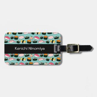 Étiquette À Bagage Motif illustré par amusement délicieux de sushi