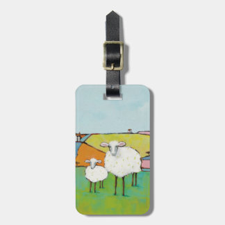 Étiquette À Bagage Moutons dans le pré