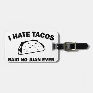 Étiquette À Bagage N'a dit aucun Juan jamais