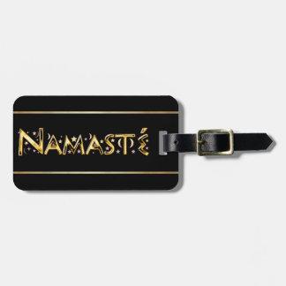 Étiquette À Bagage Namasté
