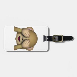Étiquette À Bagage Ne voir l'aucun singe mauvais - Emoji