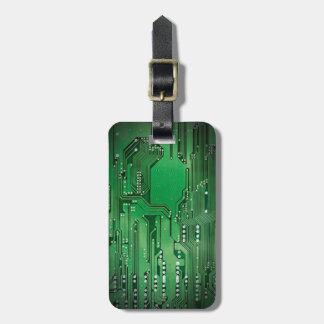 Étiquette À Bagage Noir vert élégant frais de carte